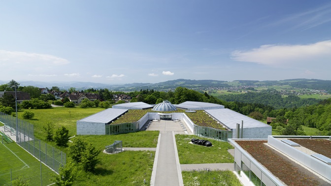 Bird's eye view of the Executive Campus of the University of St.Gallen (HSG)